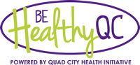 Be Healthy Quad Cities logo.