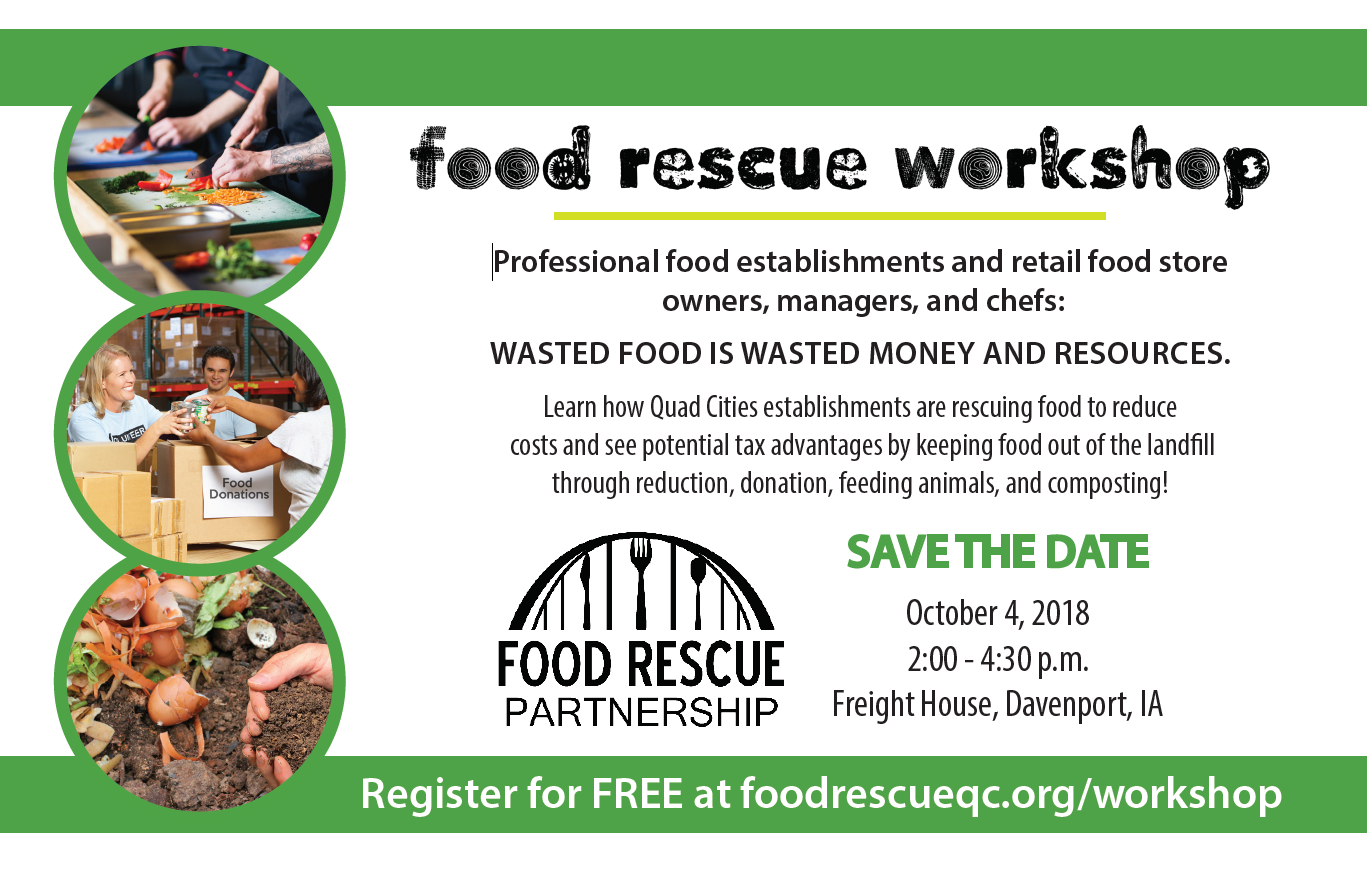 Food Rescue Workshop Save-The-Date