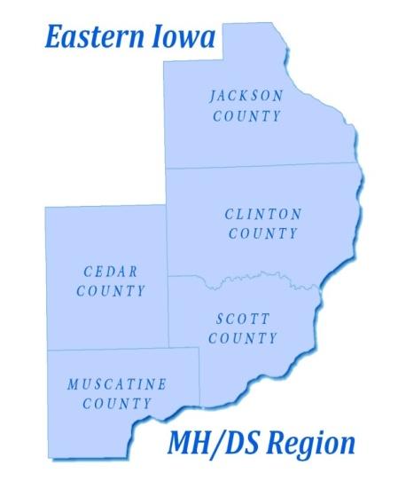 Eastern Iowa MHDS Region Scott County Iowa - Counties in iowa