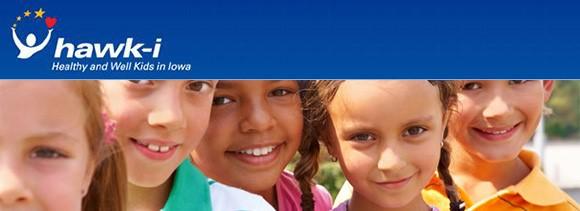 hawk-i: Healthy and Well Kids in Iowa logo