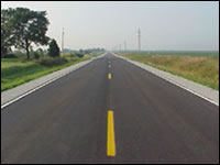 Paved roadway Area Service Level A