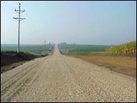 Gravel roadway Area Service Level A