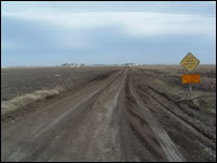 Dirt roadway example of Area Service Level B