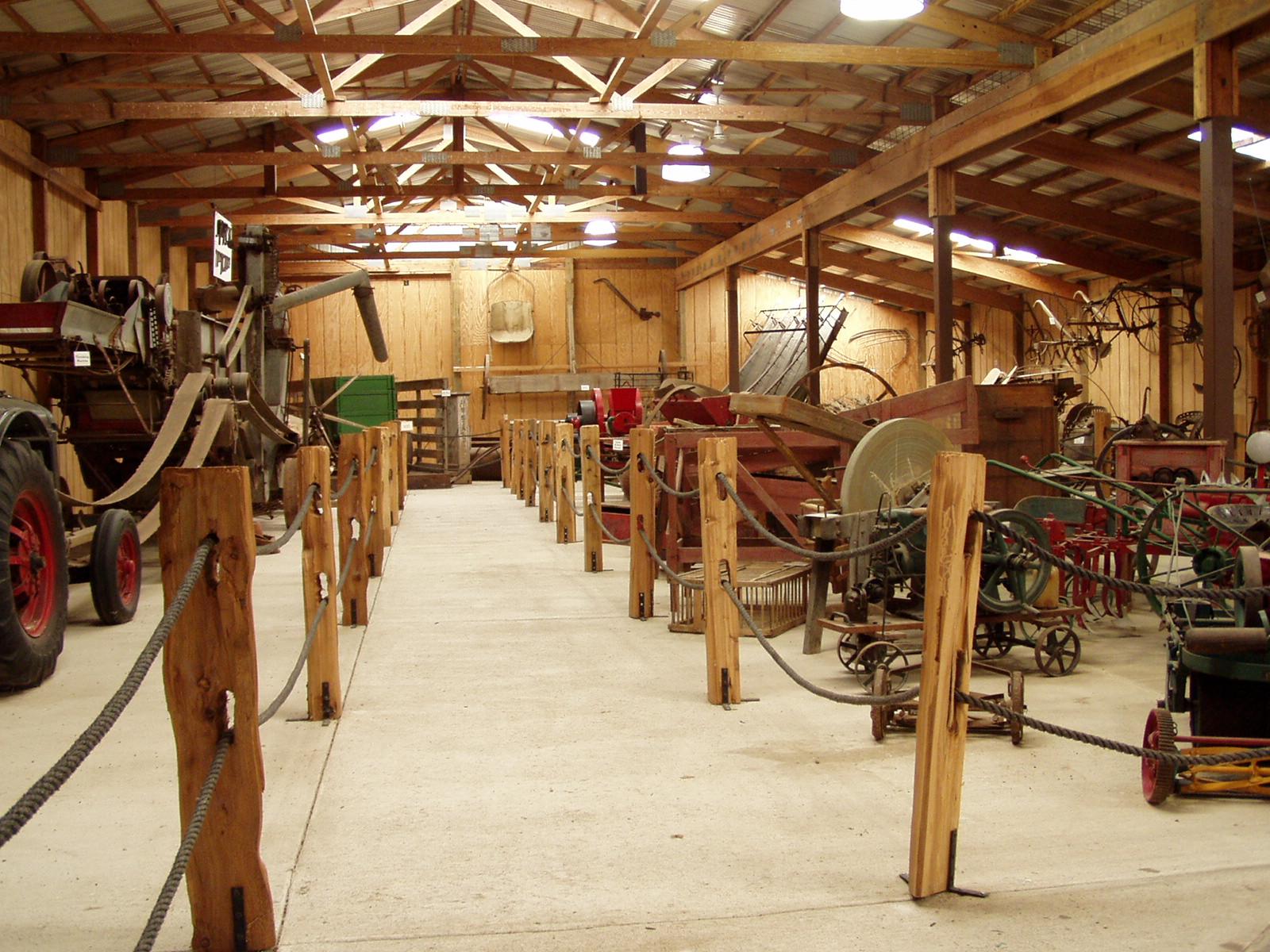 Antique Farm Machinery Building Scott County Iowa