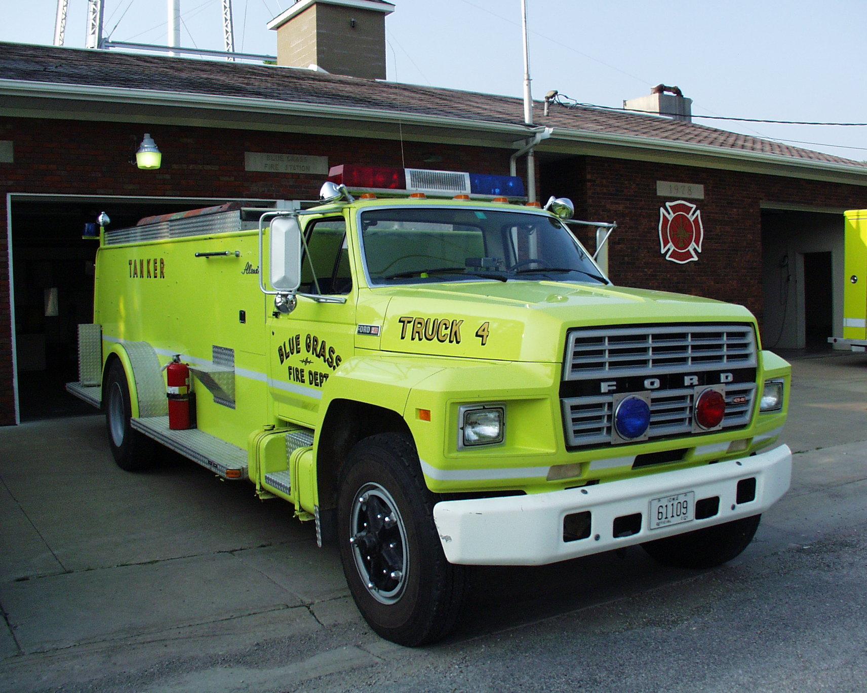 Blue Grass Volunteer Fire Department Scott County Iowa