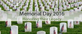 Memorial Day honoring their legecy.