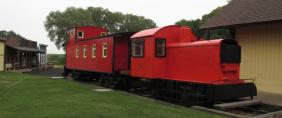 photo of caboose at the village