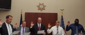 Swearing in ceremony of new deputies.