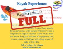flyer stating registration is full
