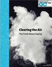 Image of vaping smoke with text in front