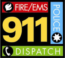 Fire/EMS, Police 911 Dispatch logo.