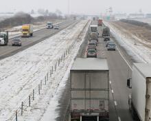 Trucks on I-80.
