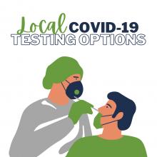 Pic of medical staff taking a COVID-19 swab