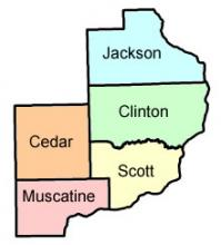 Map of the 7th Judicial District.