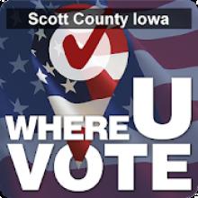 Logo of Where U Vote App.