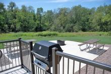 The cabin features a propane grill and handicapped accessible patio.