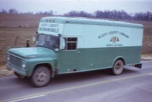 This is the 1960 Scott County Library System bookmobile.