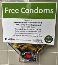 Condom Dispenser with Free Condoms