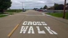 Crosswalk on residential street