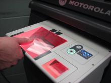 A fingerprint at the scanner.