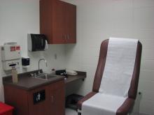 Jail medical facility.