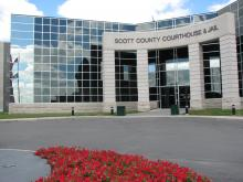 Scott County Courthouse and Jail main entrance.