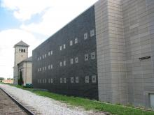 The Scott County Jail north side as seen from 5th street and the railroad tracks.