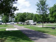 One of the 65 campsites at Buffalo Shores. Great for RV's.