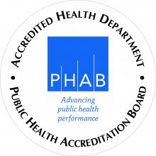 Accredited Health Department seal
