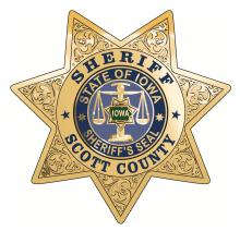 The Scott County Sheriff badge.
