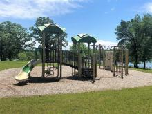 Playground equipment located near Lakeview shelter.