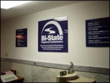 Reception area of Bi-State offices.