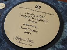 Image of the budget award.