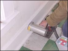 Lead paint inspection tool used inside a home