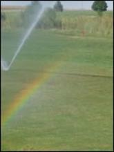 A rainbow on the course.