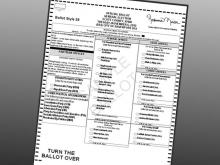 Sample ballot.