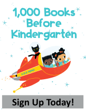 This is a picture of the logo for 1000 Books Before Kindergarten