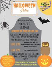 Flyer with hike info.