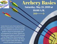 photo of flyer with target and arrows