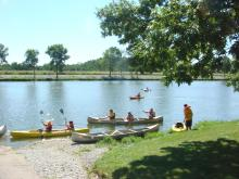 photo of boaters on the lake
