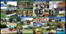 Collage of pictures from the areas within Scott County Conservation system