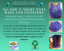 flyer for the crafting event