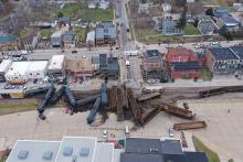 Train derailment LeClaire Iowa January 3, 2020 #3
