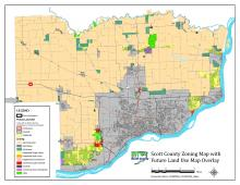 The draft proposed future land use and zoning map.