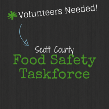 Volunteers Needed for the Food Safety Task Force