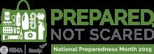 Prepared Not Scared, National preparedness month logo