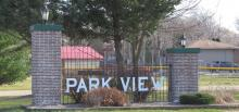 Unincorporated Park View, Iowa Brick Welcome Sign