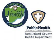 Scott County, Rock Island County Health Department Logos