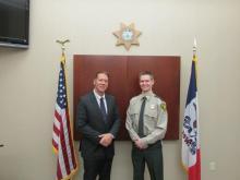 Sheriff Tim Lane and Deputy Andrew Siitari