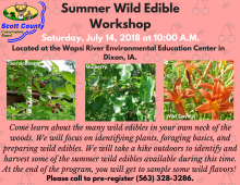 flyer showing pictures of plants and stating information about workshop